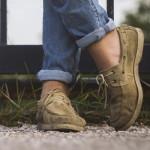 man crossed feet