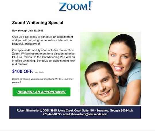 Zoom whitening deals chicago